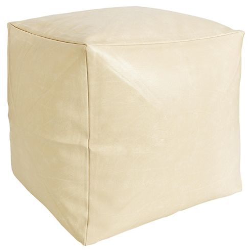 Faux Leather Cube Cream