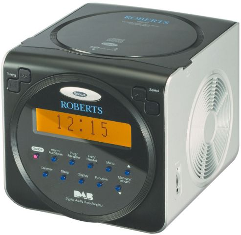 buy roberts sound 37 cd dab fm alarm radio from our clock radio range tesco. Black Bedroom Furniture Sets. Home Design Ideas