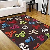 Skull and Crossbones Rug - 120 x 160 cm