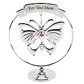 Crystocraft For You Mum Crystal Butterfly Ornament