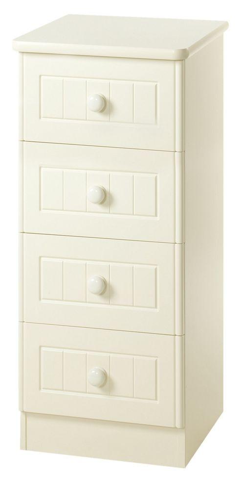 Welcome Furniture Warwick 4 Drawer Chest - Cream