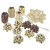 Christmas Ribbon and Bow Accessory Pack, Gold