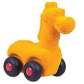 Rubbabu Aniwheelies Giraffe (Orange)