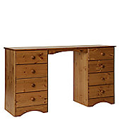 Altruna Scandinavian Double Pedestal Dressing Table - Pine