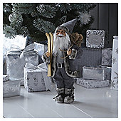 Standing Santa with Skiis Christmas Room Decoration