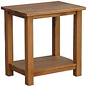 Kelburn Furniture Essentials Lamp Table in Light Oak Stain and Satin Lacquer