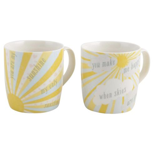 Tesco You are My Sunshine Mugs 4 pack