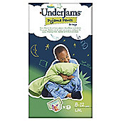 Pampers UnderJams Pyjama Pants Boys Size 8 L/XL 9 Pack
