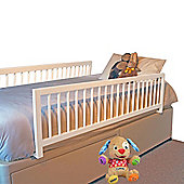 Safetots Extra Wide Double Sided Wooden Bedguard White
