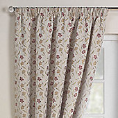 Rectella Mia Autumn Luxury Jacqaurd Pencil Pleat Curtains -112x229cm