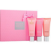 Molton Brown Replenishing Hand Cream Gift Set 3 x 40ml - Rhubarb & Rose + Pink Pepperpod + Gingerlily