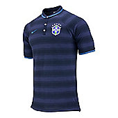2014-15 Brazil Nike Authentic League Polo Shirt (Navy) - Navy