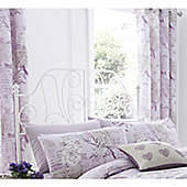 Catherine Lansfield Heather Vintage Postcard Lined Curtains 66x72 Inches (168x183cm)