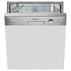 Hotpoint Built-In Dishwasher, LSB5B019X, Stainless Steel
