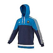 adidas France Rugby FFR Hooded Sweat 15/16 - Navy