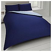 Tesco Basics Reversible Duvet Set  and Sand, - Blue