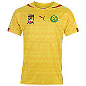 2014-15 Cameroon Away World Cup Football Shirt - Yellow