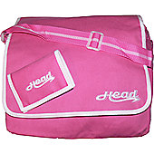 Head Peony Ladies Pink Despatch Bag & Wallet Set