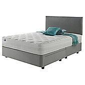 Silentnight Mirapocket 1200 Ortho Memory Non Storage Double Divan Light Grey with Headboard