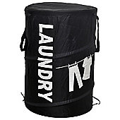 Pop Up Laundry Hamper Black