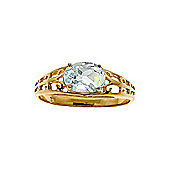 QP Jewellers 1.15ct Aquamarine Catalan Filigree Ring in 14K Gold