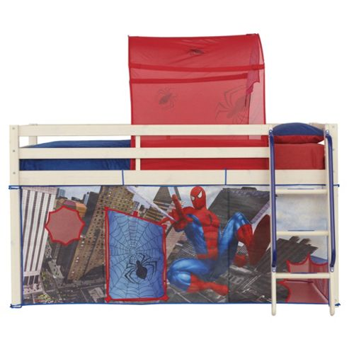 buy spiderman midsleeper bed tent pack from our mid high sleepers range. Black Bedroom Furniture Sets. Home Design Ideas