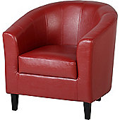 Home Essence Capricorn Tub Chair - Red