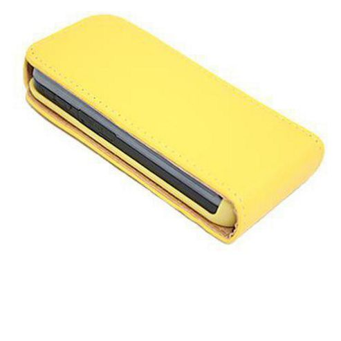 iTALKonline 8891 Yellow FlipMatic Easy Clip On Vertical Pouch Case - Samsung S5230 Tocco Lite