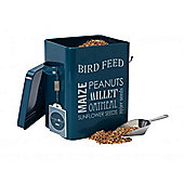 Burgon & Ball Bird Food Tin & Scoop, Petrol Blue