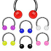 Urban Male Pack Of Seven 1.2mm Stainless Steel Circular Body Piercing Barbells