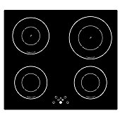 60cm 4 Zone Touch Control Induction Hob in Black