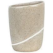 Spirella Etna Tooth Mug Tumbler - Sand