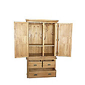 Wiseaction Riviera 2 Part Wardrobe with 2 Position Shelves