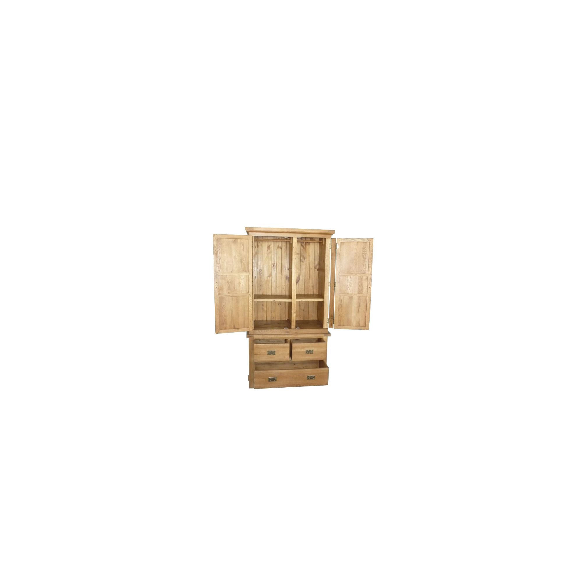 Wiseaction Riviera Two Part Wardrobe with Two Position Shelves at Tesco Direct