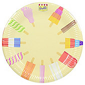 Table Fun Walls Ice Cream Paper Plates, 8 Pack