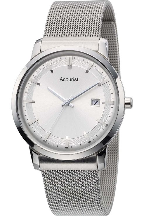 Accurist Mens Stainless Steel Date Watch MB900S