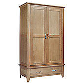 Ametis Sherwood Oak 1 Drawer Double Wardrobe