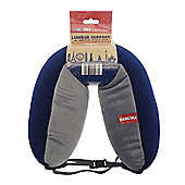 Globetrek Int. Travel Lumbar Support & Neck Pillow, Blue and Grey