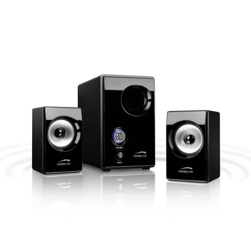 SPEEDLINK Vivo 2.1 Subwoofer Speaker System, 33 W. RMS, Black (SL-8209-SBK-01-UK).