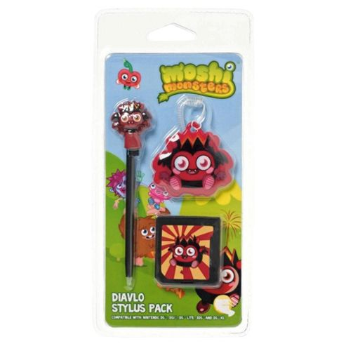 MOSHI MONSTERS Stylus Pack, Diavlo (Nintendo 3DS, DSi, DS Lite, DS XL, DS)