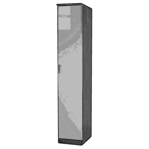 Welcome Furniture Mayfair Tall Single Wardrobe - Black - Ebony - Black