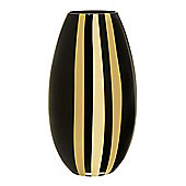 Linea Gold Stripe Vase In Gold