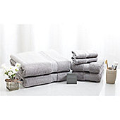 Jeff Banks 100% Egyptian Cotton Luxury 6 Piece Towel Bale - 700 GSM - Grey