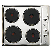 60cm Electric Hob in Stainless Steel