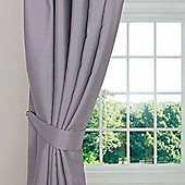Homescapes Grey Herringbone Chevron Curtains Tie Backs Pair
