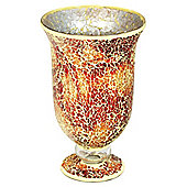 Home Essence Glass Mosaic Large Hurricane - Orange