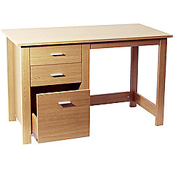 Montrose - Home Office Storage Desk / Workstation - Beech