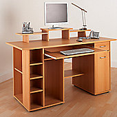 Alphason San Diego Utility Workstation in Beech