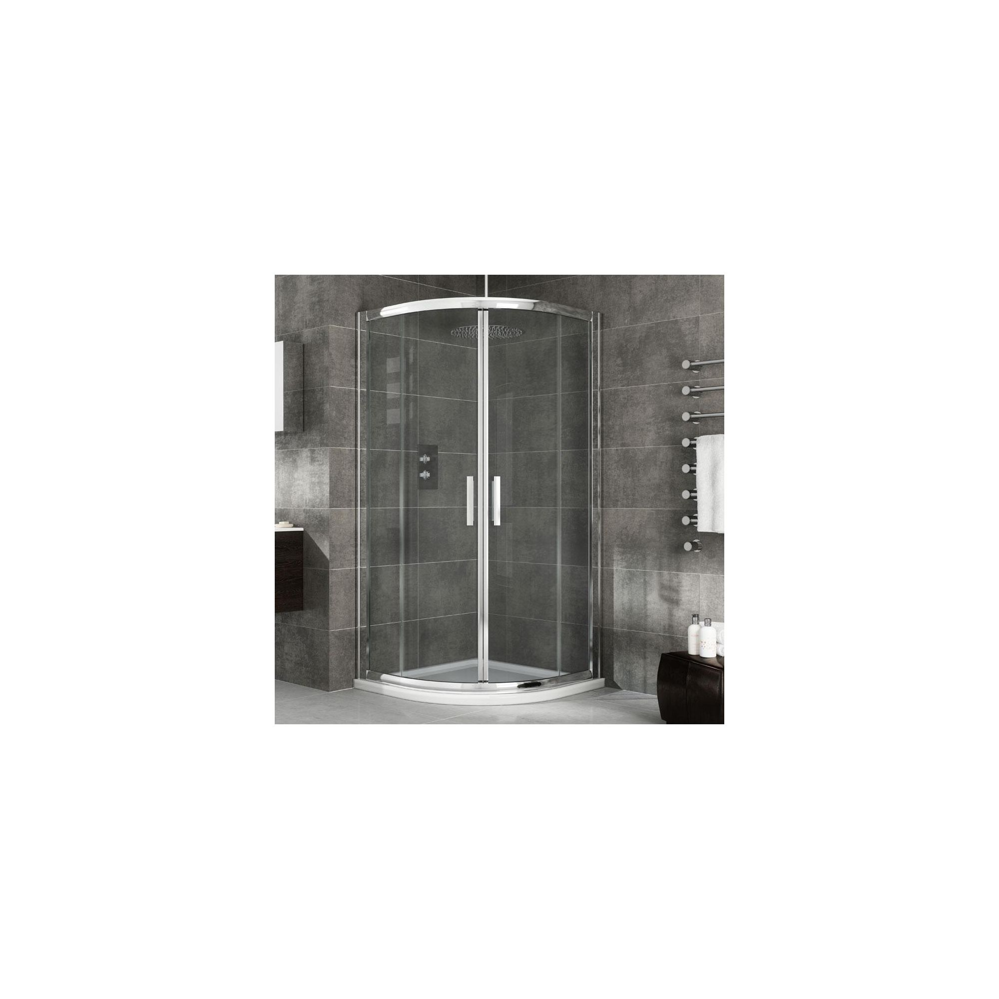 Elemis Eternity Two-Door Quadrant Shower Enclosure, 1000mm x 1000mm, 8mm Glass, Low Profile Tray at Tesco Direct