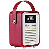 View Quest Retro Mini DAB+/FM Radio with Bluetooth (Red)